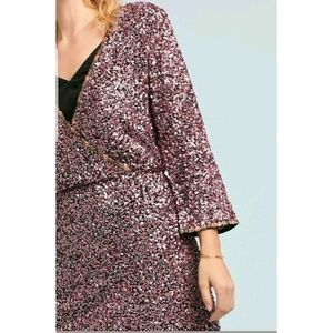 ANTHROPOLOGIE Dresses - NEW ANTHROPOLOGIE SEQUINED WRAP DRESS $ 348 Size 2
